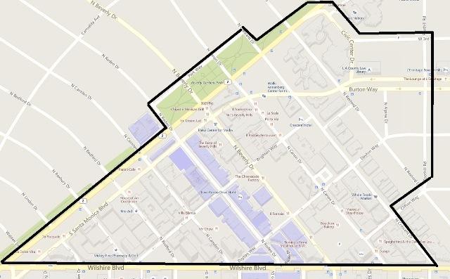 Beverly Hills Ambassador Team Map