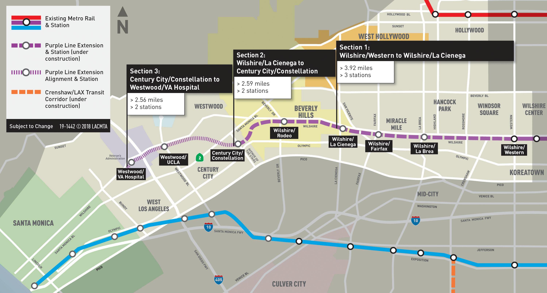 Project Management Subway Map.Purple Line Extension Information