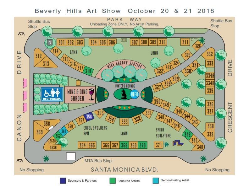 Artist Map, October 2018, 300 block