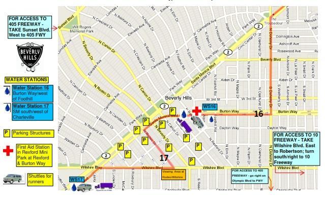 LA Marathon Map 2017