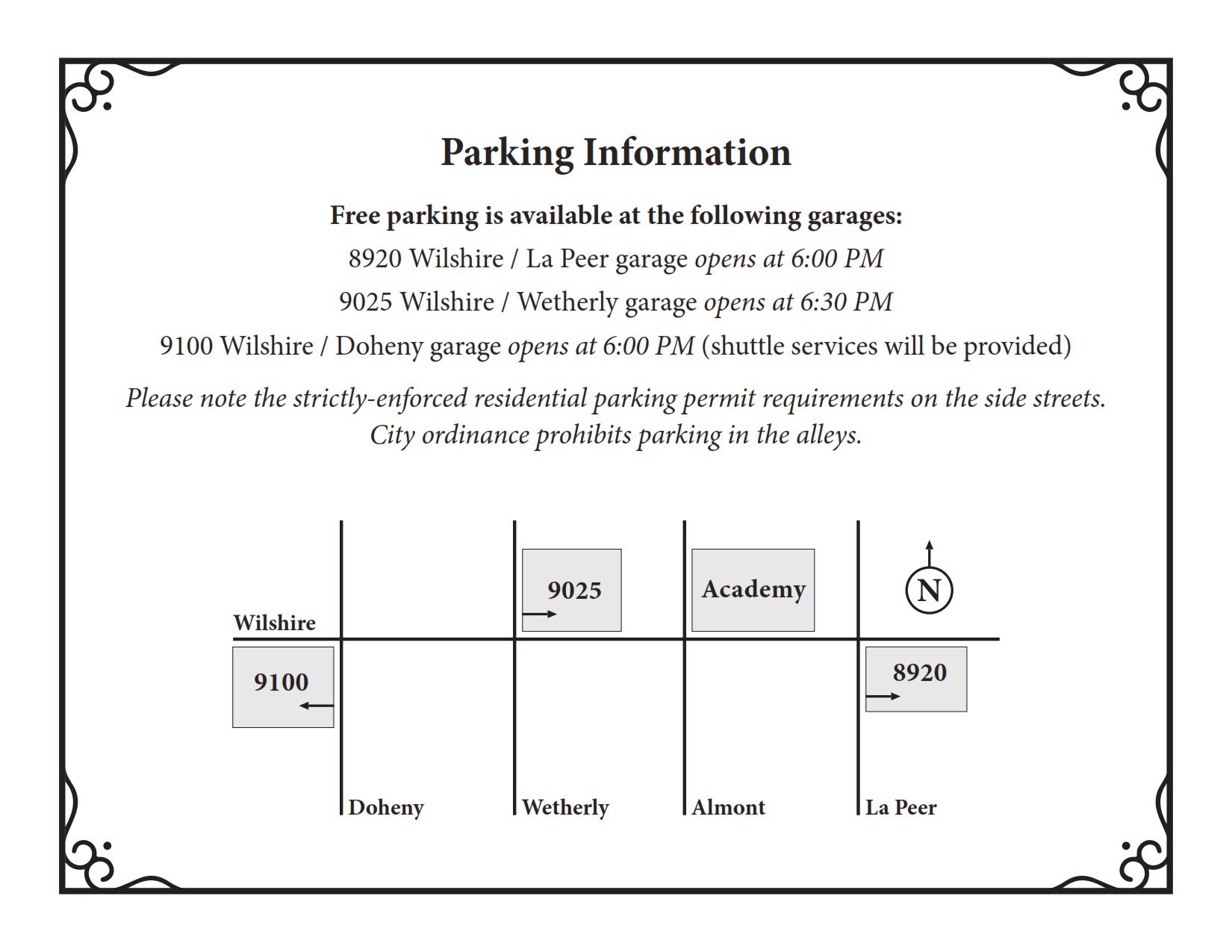 Installation 2018 Parking Info