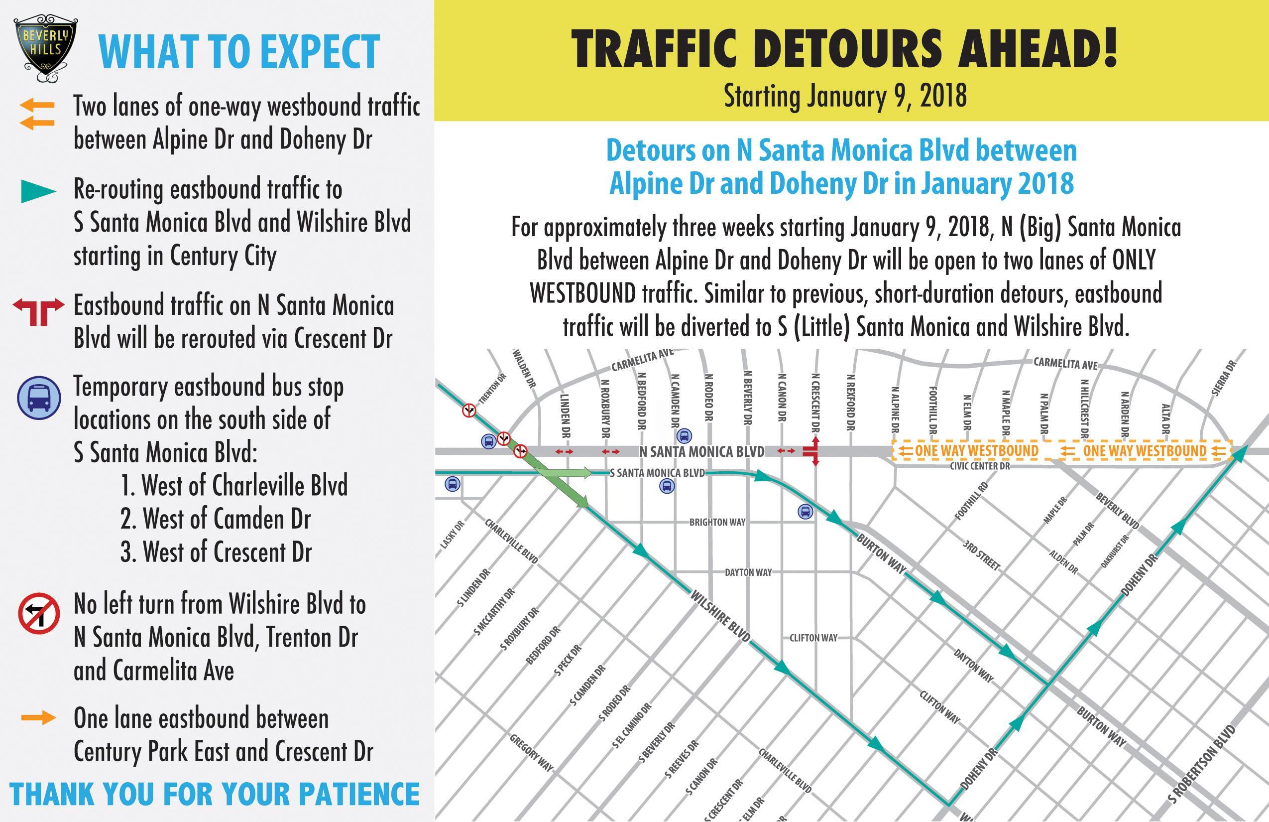 Segment 3 Detours Map