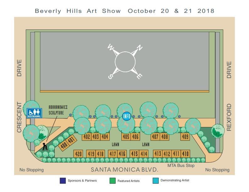 Artist Map, October 2018, 400 block
