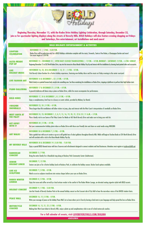 BOLD Holidays Calendar