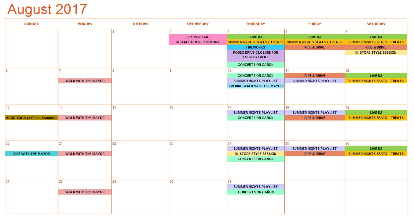 August Bold Calendar