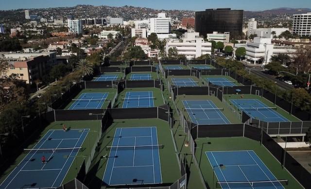 Overhead tennis image