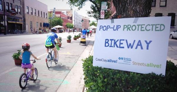 Pop-up Bikeway Example 2