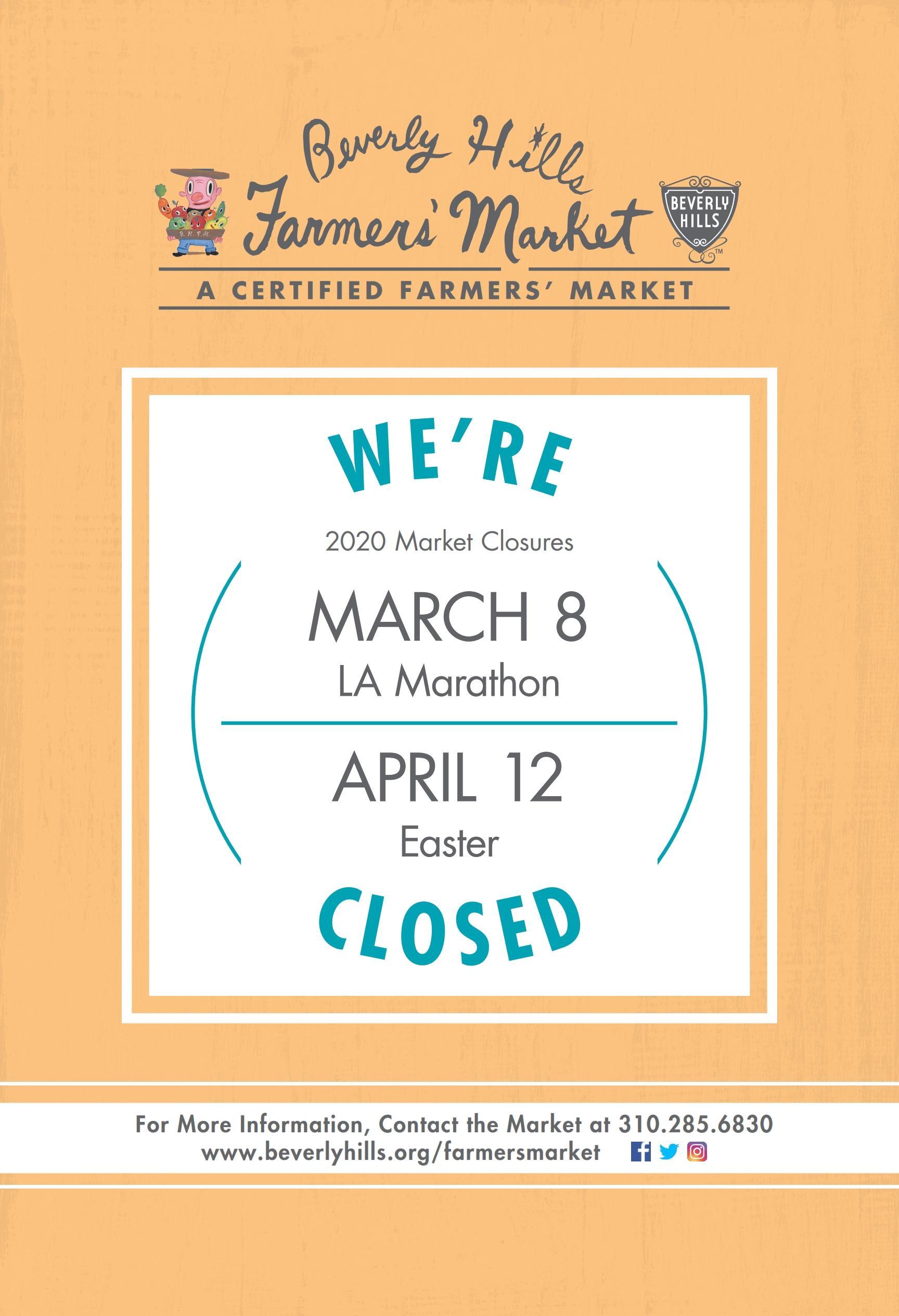 Farmers market closed flyer